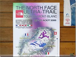 Plakat for Ultra Trail du Mont Blanc (UTMB), her fra 2006